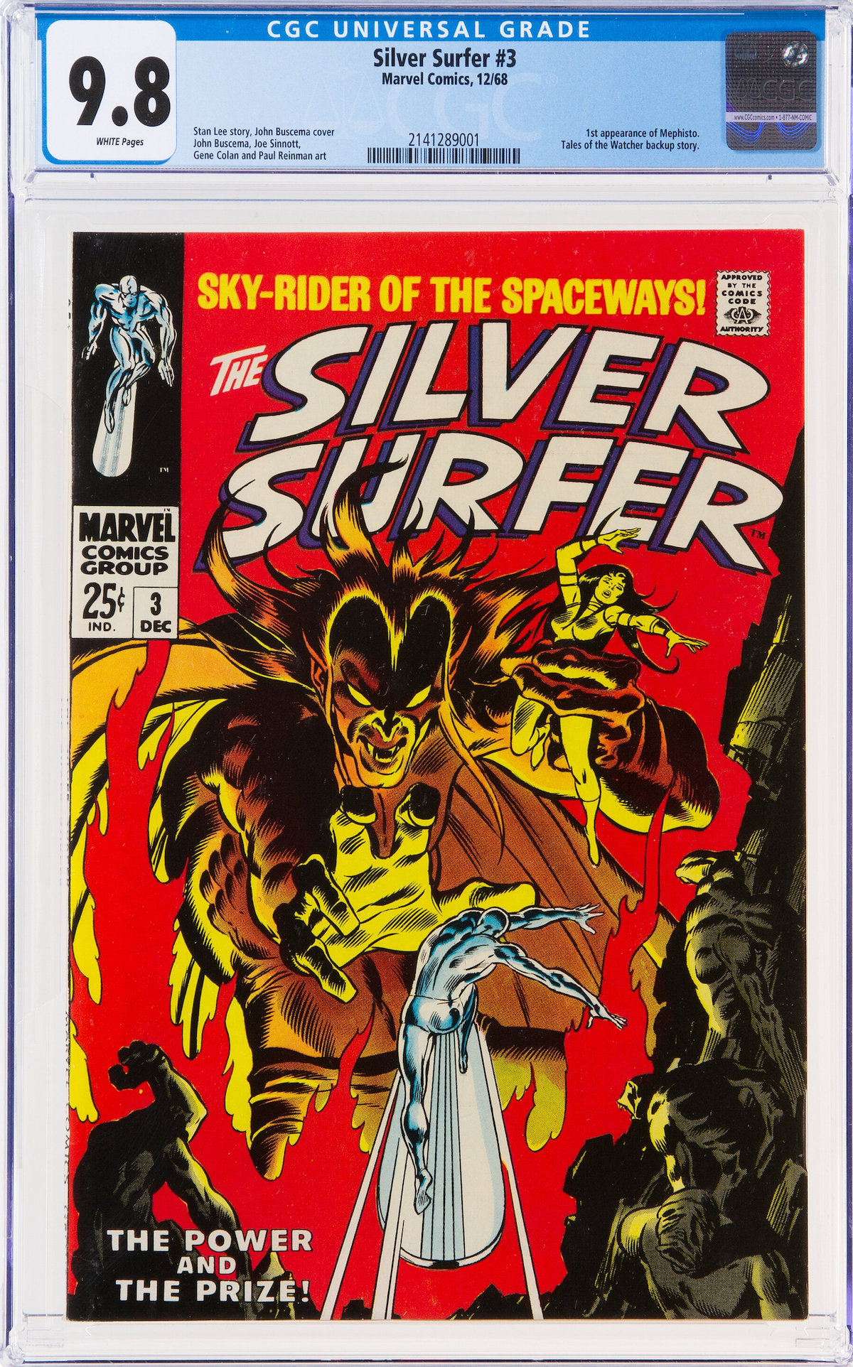 Silver Surfer #3, CGC NM/MT 9.8